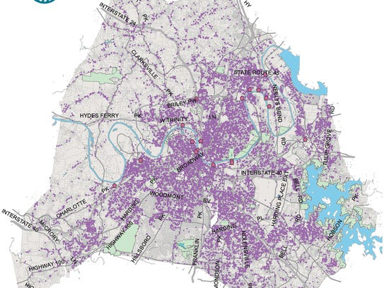 A countywide map of stormwater capital and maintenance