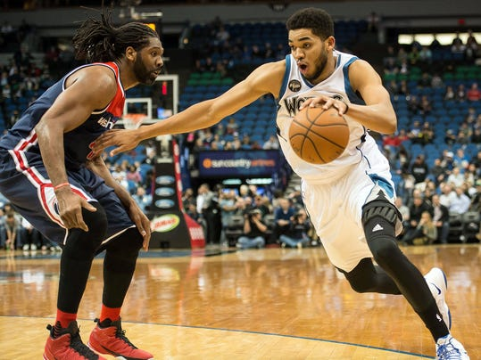 NBA: Washington Wizards at Minnesota Timberwolves