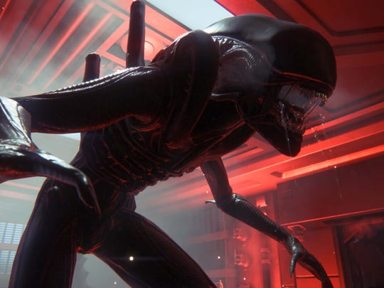 "The xenomorph in ""Alien: Isolation"" is fast, crafty and relentless."