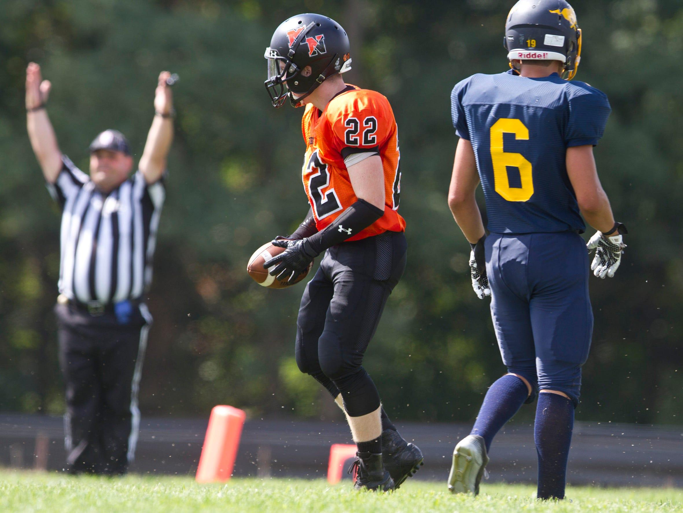 Middletown North vs Marlboro football. Marlboro, NJ Saturday, September 19, 2015 @dhoodhood