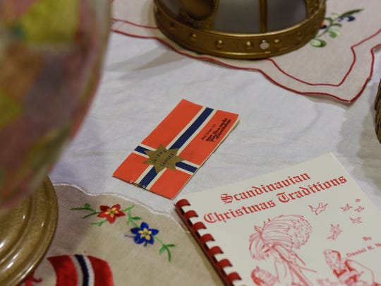 Norwegian holiday items are on display during KringleFest