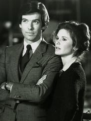 Pierce Brosnan and Stephanie Zimbalist in 'Remington Steele,'