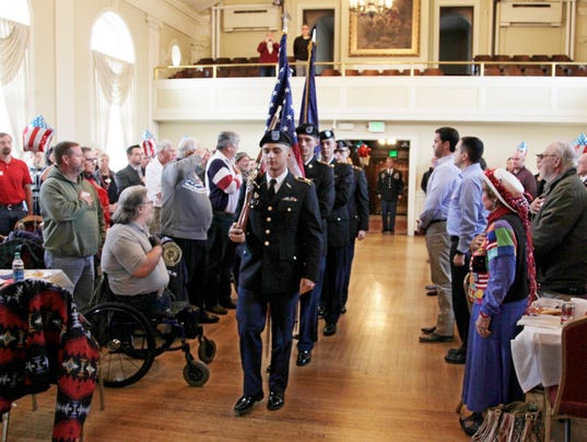 LAF Lafayette's top brass honor local veterans