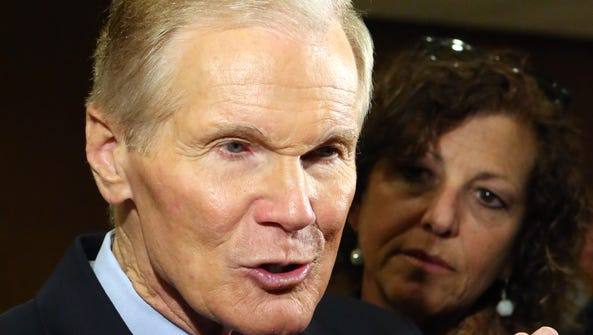 U.S. Sen. Bill Nelson, D-Fla., answers questions during