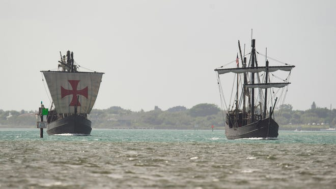 The replica Pinta, left, and The Nina Columbus clippers are returning to the Treasure Coast March 30.