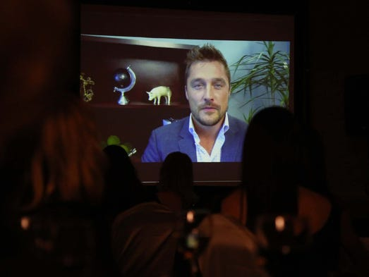 Chris soules shares a pre recorded video message with