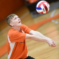 PHOTOS: Palmyra and Cedar Crest boys volleyball take it to the net