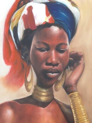 """""""Bel Kreyol,"""" a painting by Jean Benoit, is included in the """"African- American Artists of the Hudson Valley"""" exhibit in Beacon."""
