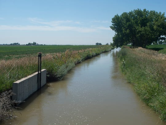The Collins Lateral irrigation ditch carries water