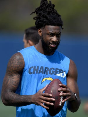 Los Angeles Chargers receiver and former Clemson standout Mike Williams during workout at the Hoag Performance Center.