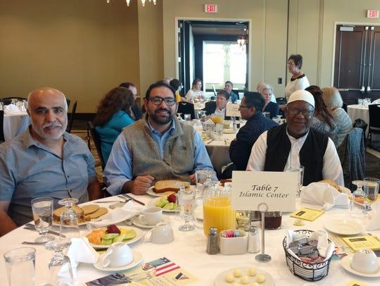 Nasr Jallald, city Rep Peter Svarzbein, Abbas Brown