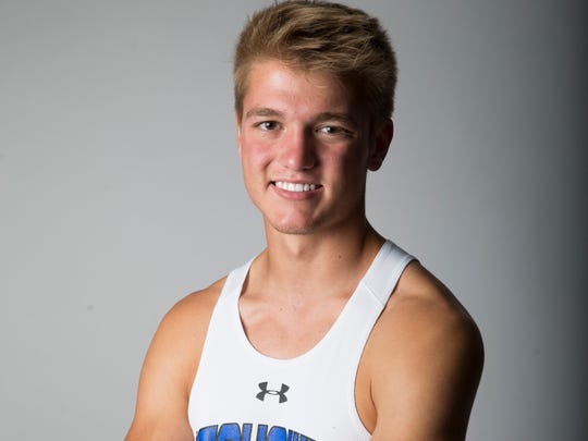 Community School of Naples senior and pole vaulter Kane Aldrich.