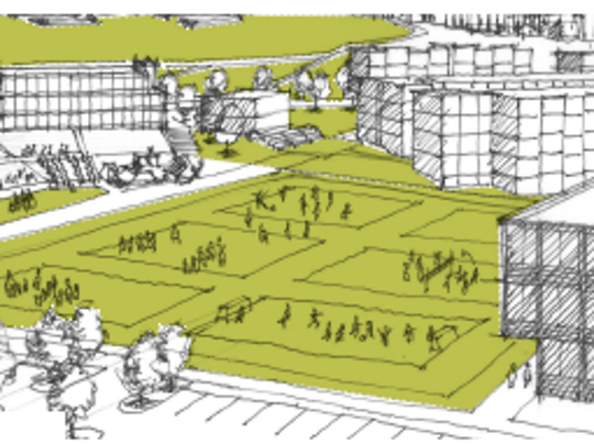 The proposed Greer Park as envisioned by oneC1TY
