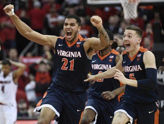 NCAA Basketball: Virginia at Louisville