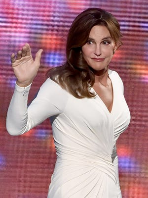 Caitlyn Jenner accepts the Arthur Ashe Courage Award onstage during The 2015 ESPYS.
