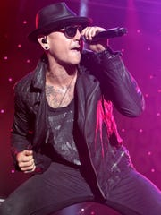 In this Sept. 19, 2015 file photo, Chester Bennington