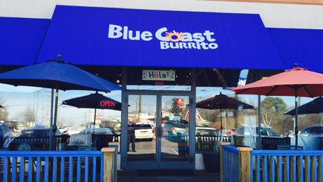 Construction continues on Blue Coast Burrito on Union University Drive.