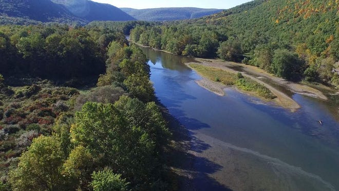 On the left side of this photo of the Chemung River in Big Flats is more than 40 acres of property recently donated to the Finger Lakes Land Trust.