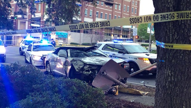A suspect Tallahassee Police was pursuing died from injuries sustained when the suspect crashed at the intersection of Monroe and Tennessee streets.
