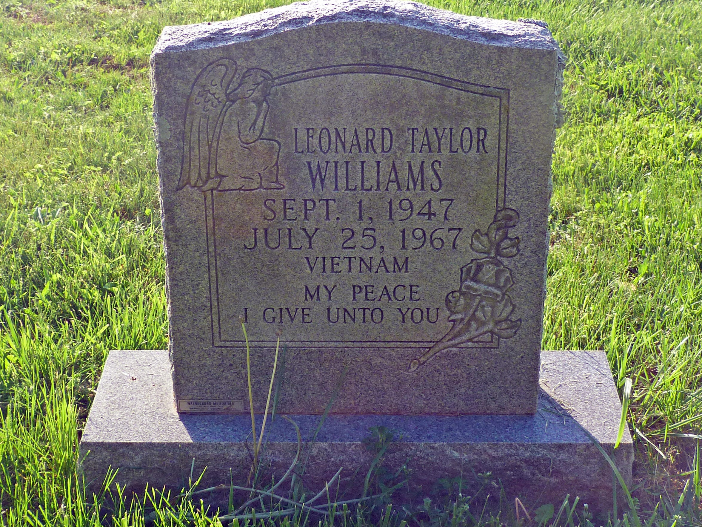 Leonard Taylor Williams was laid to rest in the cemetery of his family's church, Mt. Marine Baptist Church.