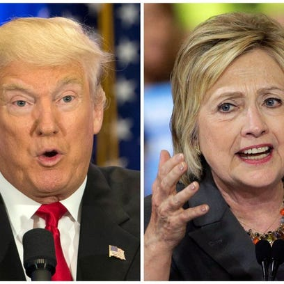 U.S. presidential candidates Donald Trump and Hillary