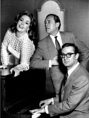 A 1967 shot of Steve Allen, right, rehearsing with