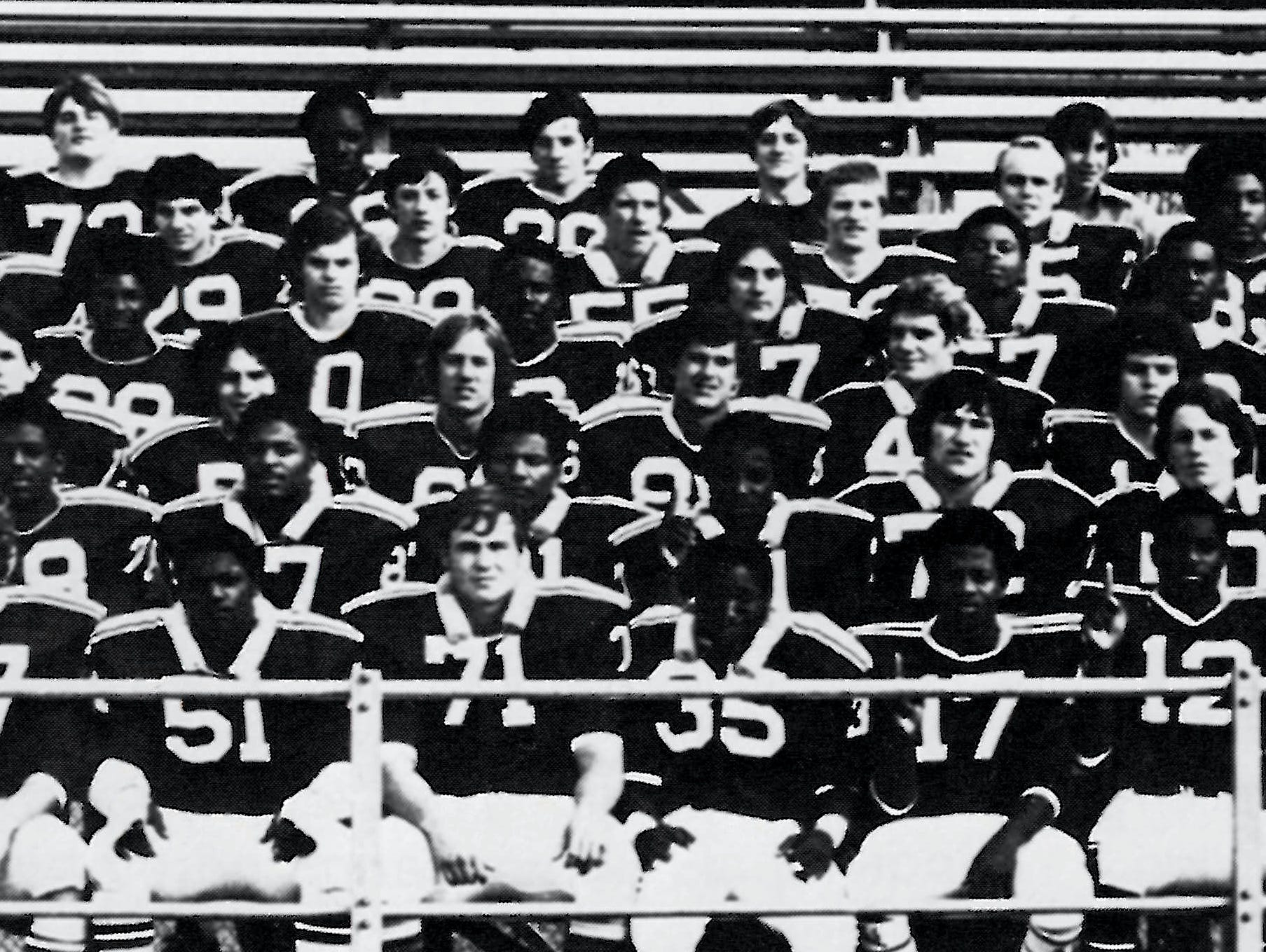 Red Ban's 1975 undefeated state championship team.