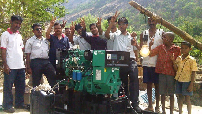 This corporate responsibility initiative in India by Cummins Inc. brought power in 2011 to a small, rural village about 150 kilometers from the city of Pune. Cummins engineers developed a special generator that runs on oil from the seed of a tree native to the area. Some five years later, the project is still going strong.