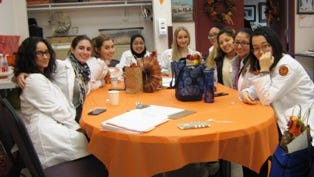 Students from William Paterson University's senior nursing program volunteeing at a memory screening event Nov. 16 at the Passaic County Department of Senior Services building in Totowa.