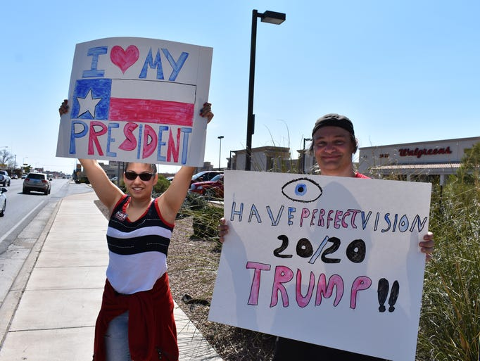 This duo shows their support of President Trump via