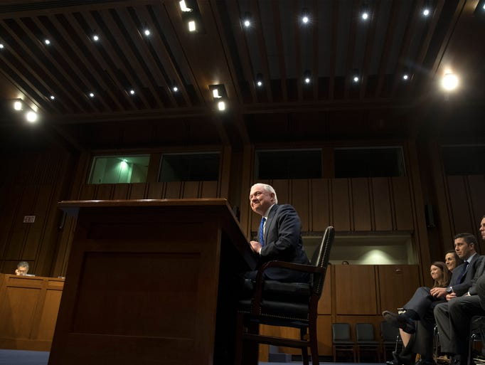 Sessions appears before the Senate Judiciary Committee