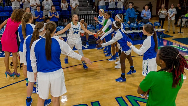 FGCU sixth-year senior Taylor Gradinjan overcame two surgeries on her right knee to become a four-year starter.