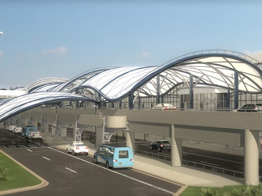 New canopy at the Greater Rochester International Airport