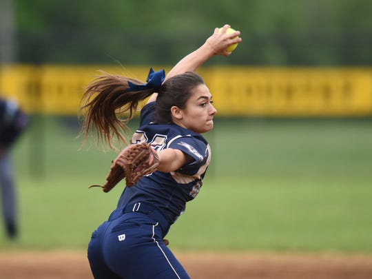NV/Old Tappan senior pitcher Julie Rodriguez and the Golden Knights won the North 1, Group 3 title and are now two victories away from a state championship.