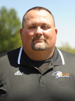 Lucas head football coach Scott Spitler