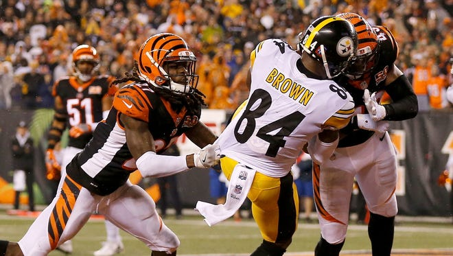 This hit on Steelers wide receiver Antonio Brown by Bengals safety George Iloka in 2017 would now result in an ejection under a new NFL rule.