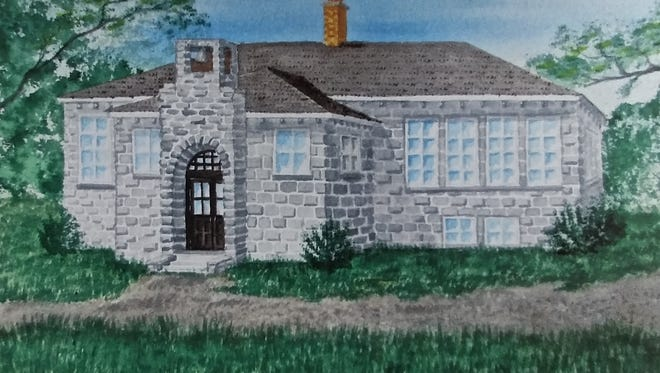 This rendering of Egg Harbor No. 1 School by artist Giz Herbst graces the Egg Harbor Historical Society's informational handout about Sunday's reunion.