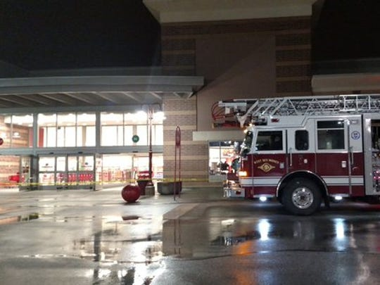A fire truck outside of the Target store on Mills Civic Parkway. The store suffered a minor fire on Thursday, Nov. 26.