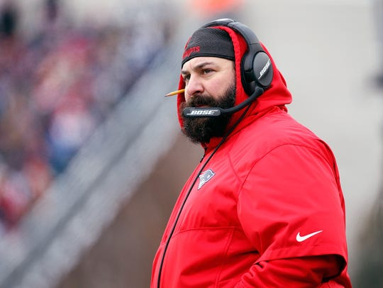 New England Patriots defensive coordinator Matt Patricia