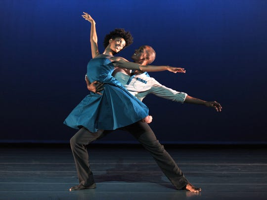 """Aubree Brown and Jamal White in """"Cuore Sott'olio."""" White says he loves the piece because the choreography is challenging."""