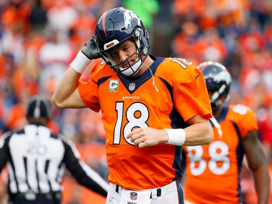 Manning hits the bench as Broncos fall 29-13 to Chiefs