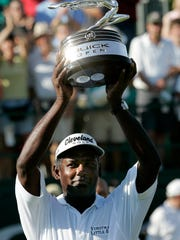 Vijay Singh wins the Buick Open in 2005. He won the tournament three times.