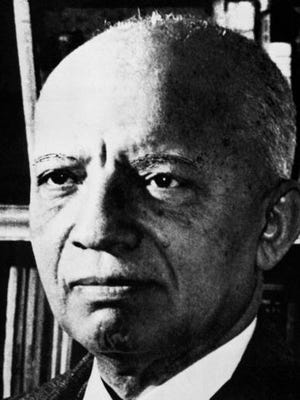 FILE - Carter G. Woodson in an undated photograph. Woodson is a founder of the Association for the Study of African American History, who first came up with the idea of the celebration that became Black History Month. Woodson, the son of recently-freed Virginia slaves who went on to earn a Ph.D in history from Harvard, originally came up with the idea as Negro History Week to encourage black Americans to become more interested in their own history.