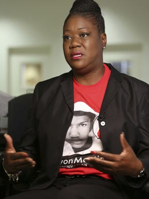 Sybrina Fulton, the mother of Trayvon Martin, shown here speaking in 2015 in Miami, will keynote the University's Women's History Convocation ON March 21 at Grambling State University.