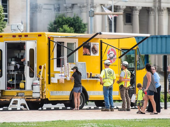 Locals enjoy lunch from area food trucks at Elstro