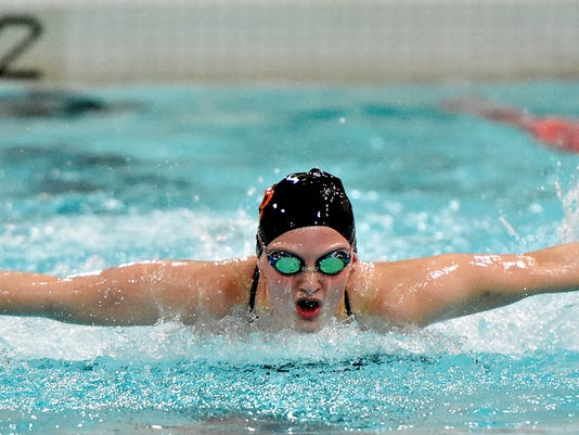 York Suburban vs West York girls swimming