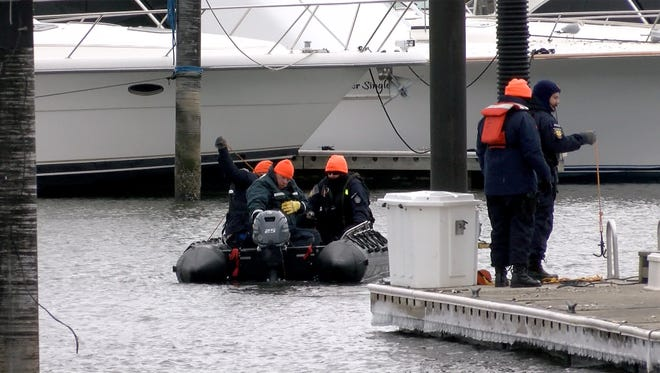 A search was conducted Monday, January 15, 2017, in the Shark River off the Belmar Marina for a missing Lake Como man.