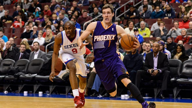 Phoenix Suns guard Goran Dragic (1) is defended by Philadelphia 76ers guard James Anderson (9) in a recent game. Dragic is a guy who hopes to make the All-Star roster.