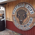 The rear entrance to Buffalo Chips, which opened in 1982 in Bonita Springs.