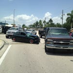 Crash closes eastbound Palm Beach Blvd in Fort Myers